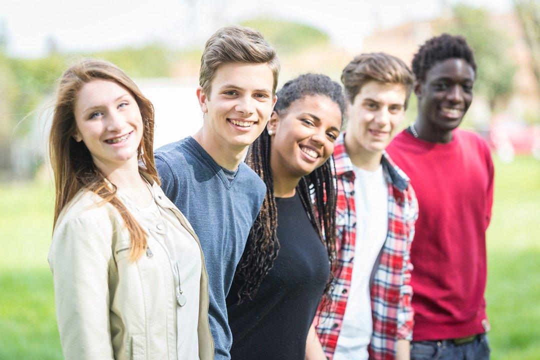 Multiethnic Group of Teenagers Outdoor
